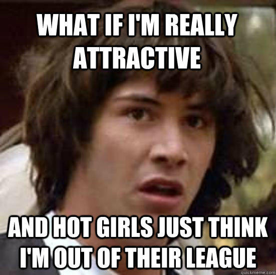 What if I'm really attractive  and hot girls just think I'm out of their league   conspiracy keanu