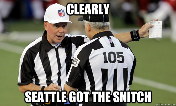 CLEARLY SEATTLE GOT THE SNITCH
