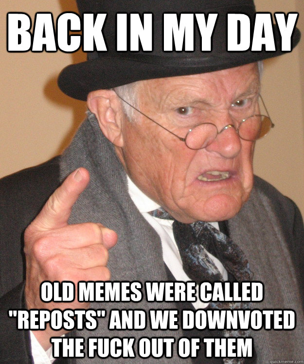 Back in my day old memes were called