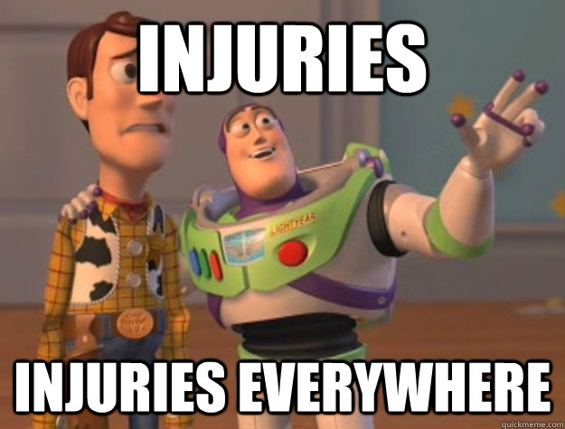 Injuries Injuries everywhere - Injuries Injuries everywhere  Buzz Lightyear