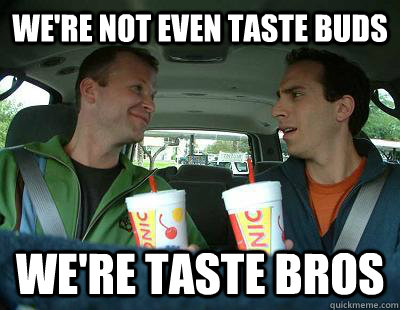 we're not even taste buds we're taste bros - we're not even taste buds we're taste bros  Sonic Guys
