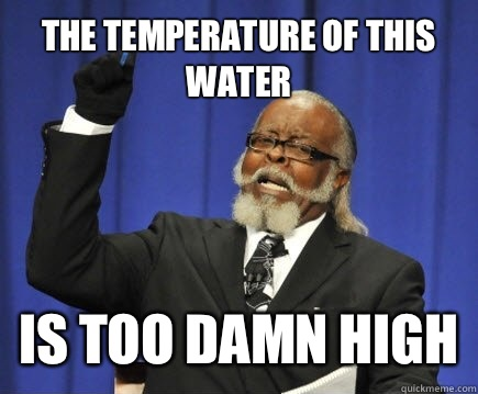 The temperature of this water Is too damn high - The temperature of this water Is too damn high  Too Damn High