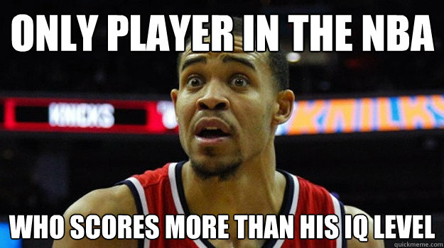 Only player in the NBA Who scores more than his IQ level  Javale mcgee meme