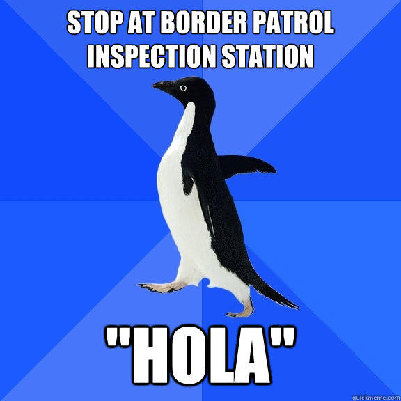 stop at border patrol inspection station