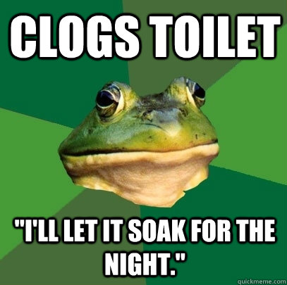 clogs toilet
