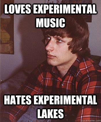 loves experimental music hates experimental lakes
