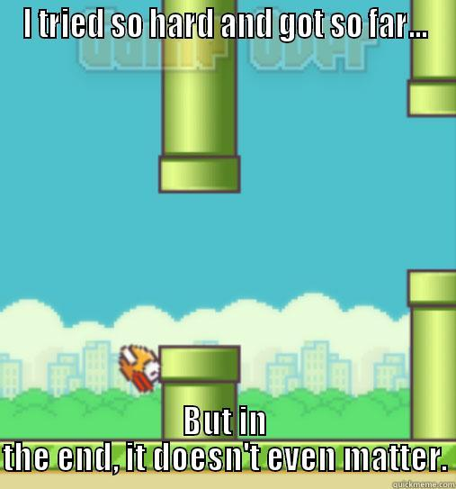Flappy Bird - I TRIED SO HARD AND GOT SO FAR... BUT IN THE END, IT DOESN'T EVEN MATTER. Misc
