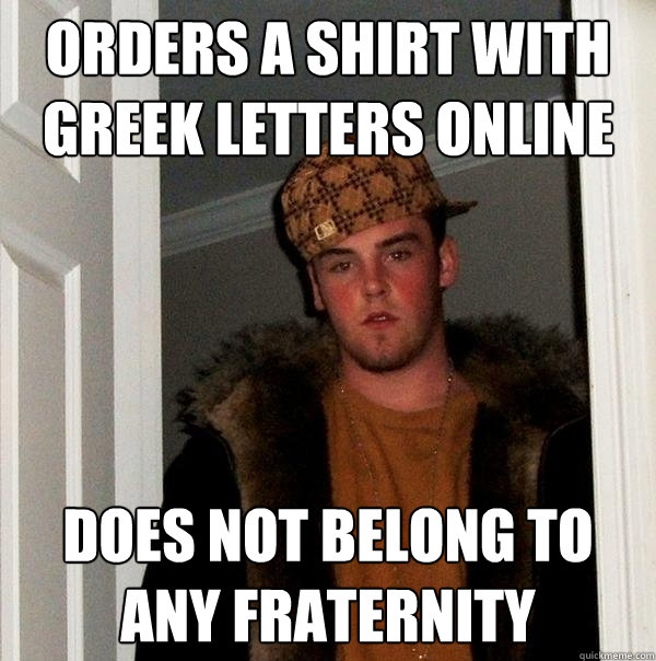 Orders A Shirt With Greek Letters Online Does Not Belong