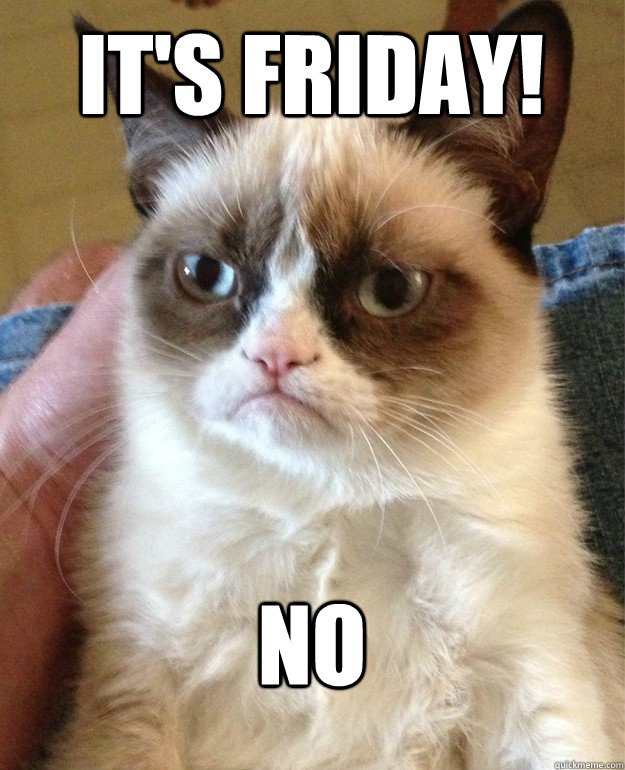 It's Friday! no - It's Friday! no  Grumpy Cat