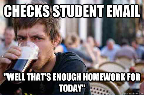 Checks student email