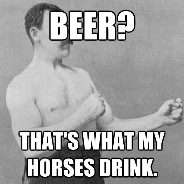 BEER?  THAT'S WHAT MY HORSES DRINK. - BEER?  THAT'S WHAT MY HORSES DRINK.  Misc