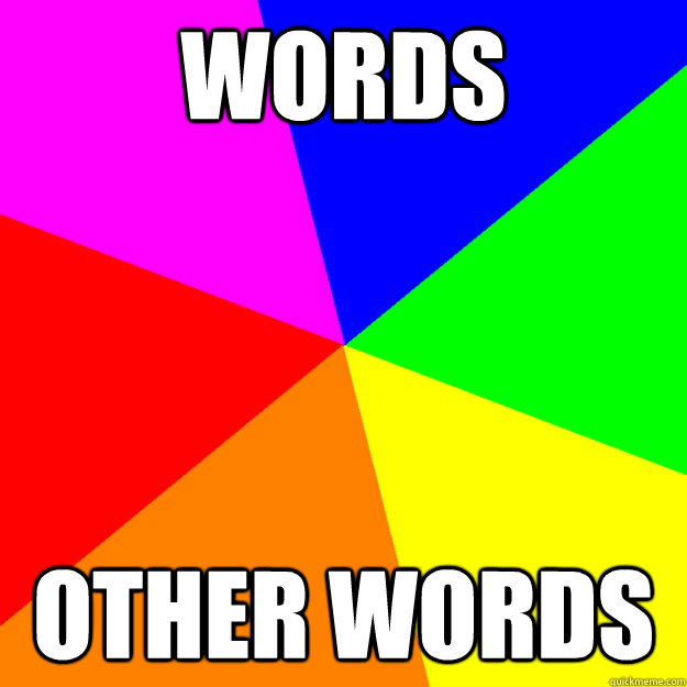 words other words