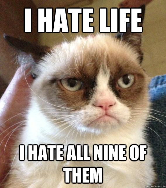 I hate life i hate all nine of them