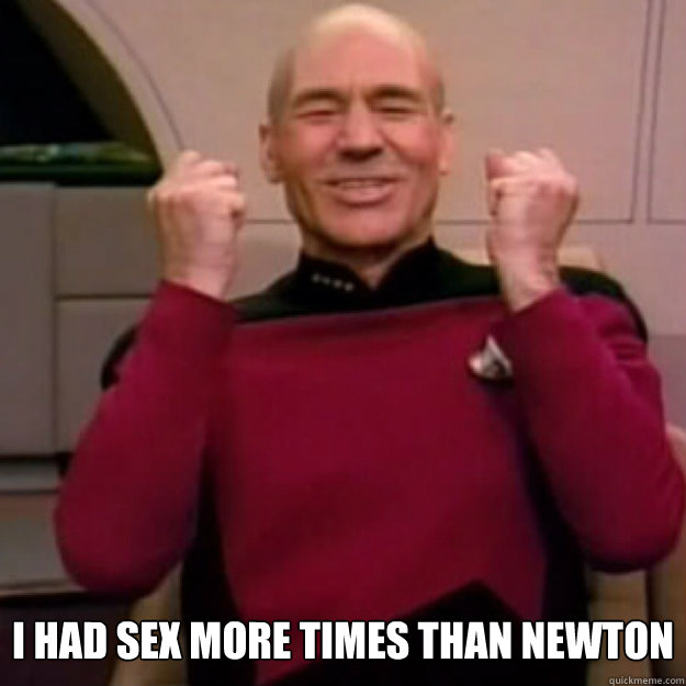 i had sex More times than newton  Win Picard