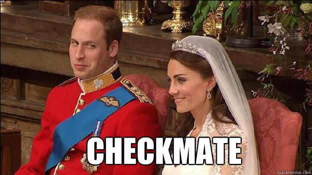 CHECKMATE  Kate Middleton