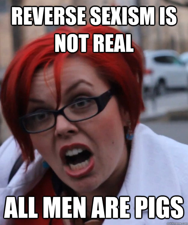 Reverse sexism is not real all men are pigs