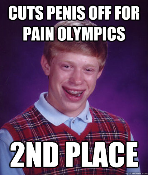Pain olympics cuts off penis