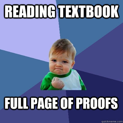Reading Textbook Full page of proofs - Reading Textbook Full page of proofs  Success Kid