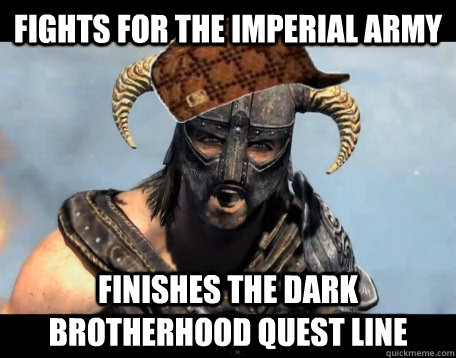 Fights for the Imperial Army Finishes the Dark Brotherhood Quest Line