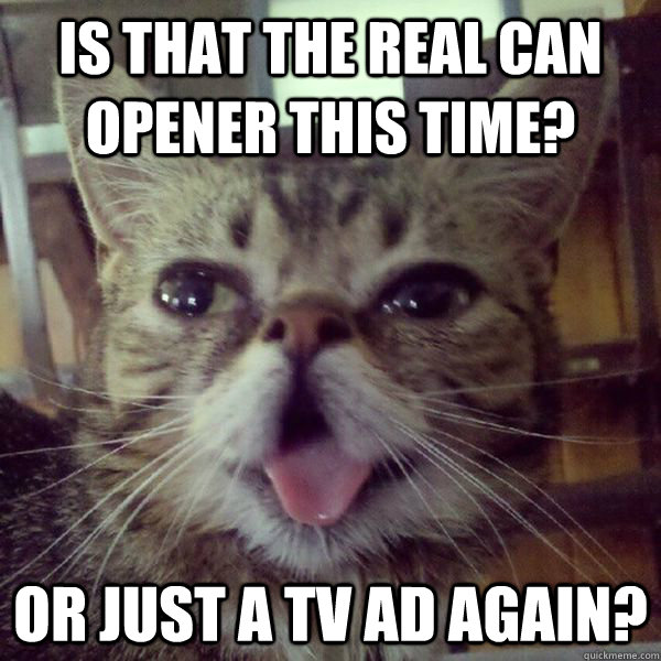 Is That the Real Can Opener This Time? Or Just a TV Ad Again?