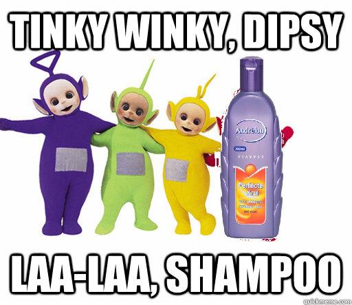Tinky Winky, Dipsy Laa-laa, Shampoo - Tinky Winky, Dipsy Laa-laa, Shampoo  de teletubbies