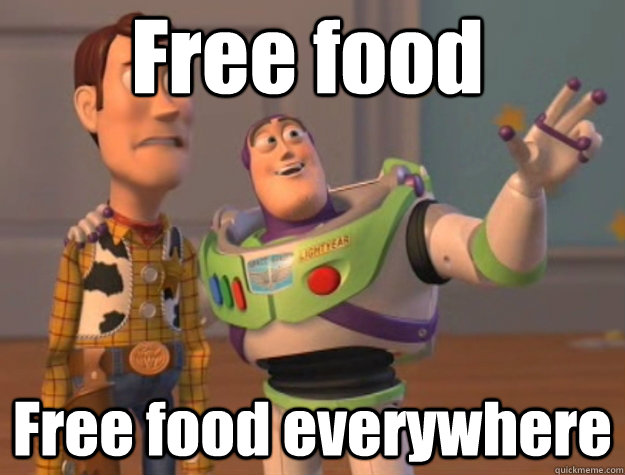 Free food Free food everywhere - Free food Free food everywhere  Pinks everywhere