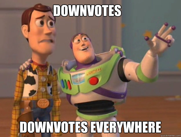 Downvotes Downvotes everywhere - Downvotes Downvotes everywhere  buzz