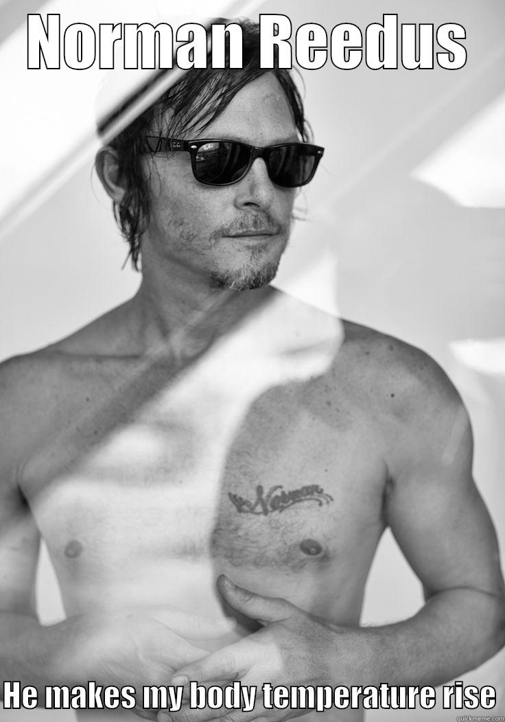 NORMAN REEDUS  HE MAKES MY BODY TEMPERATURE RISE Misc