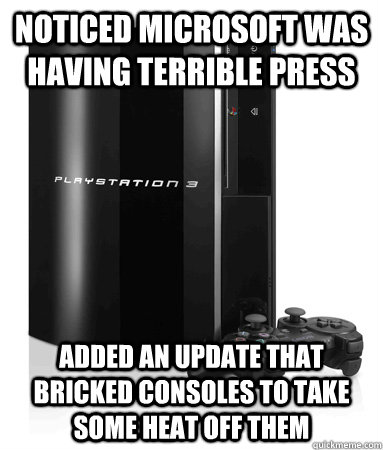 Noticed Microsoft was having terrible press Added an update that bricked consoles to take some heat off them