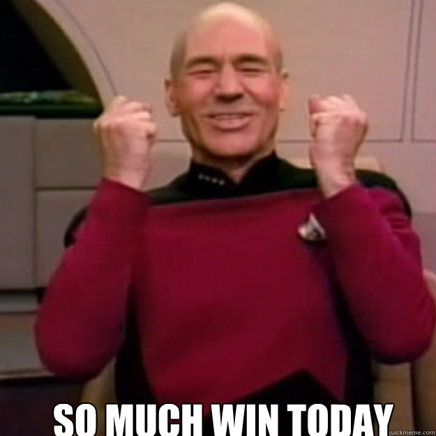 SO MUCH WIN TODAY  Win Picard