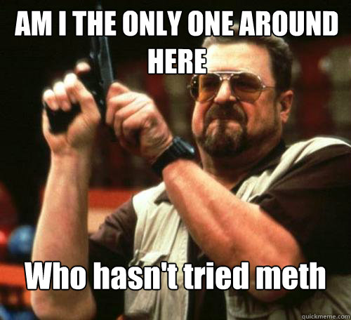 AM I THE ONLY ONE AROUND HERE Who hasn't tried meth
