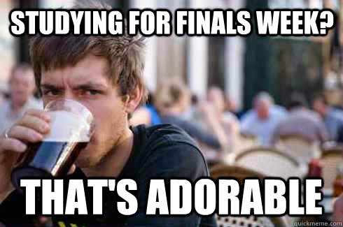 Studying for Finals Week? That's adorable - Studying for Finals Week? That's adorable  Lazy College Senior