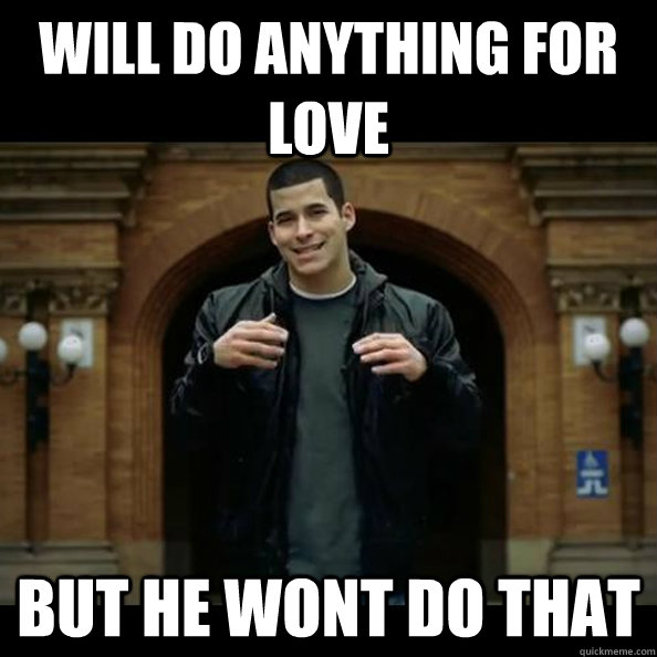 i will do anything for love