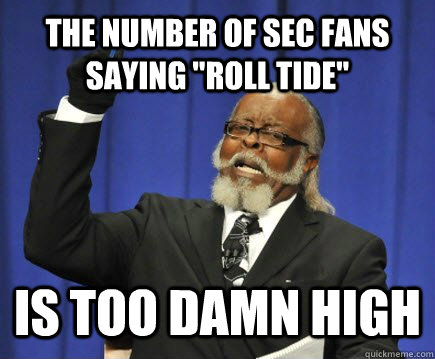 The number of SEC fans saying