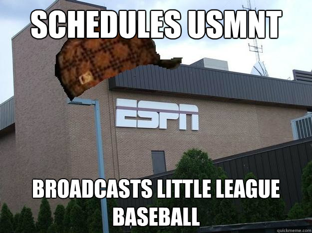 SCHEDULES USMNT BROADCASTS LITTLE LEAGUE BASEBALL  Scumbag espn