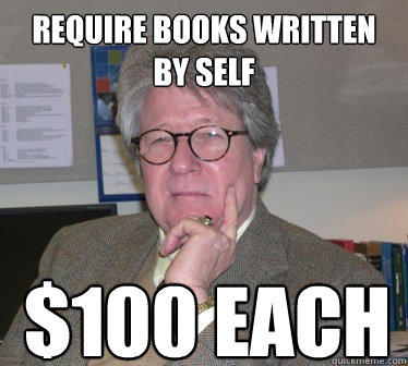 require books written by self $100 EACH