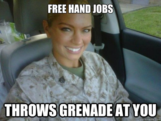 free hand jobs throws grenade at you  Hot United States Marine