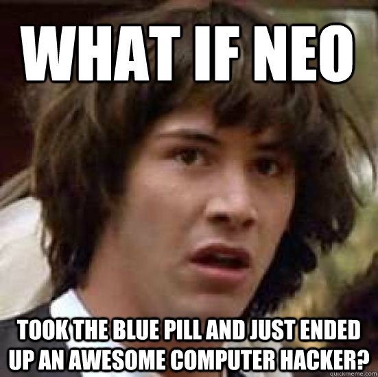 what pill did neo take