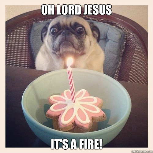 oh lord jesus it's a fire!