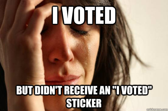 I voted but didn't receive an