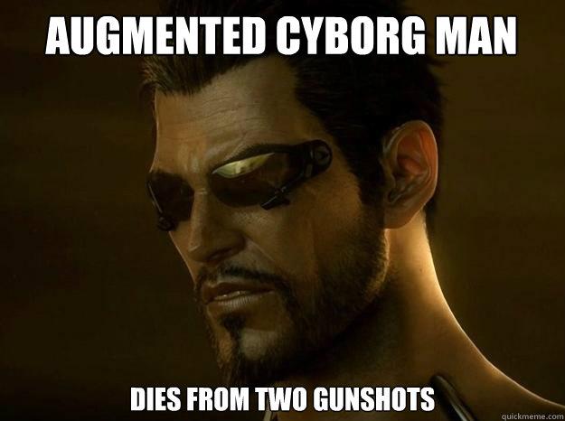 Augmented cyborg man dies from two gunshots