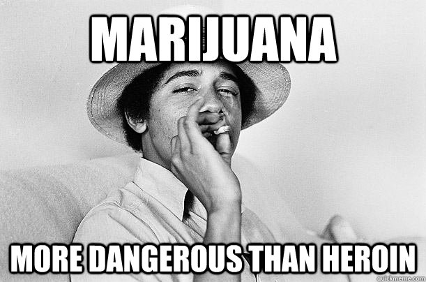Marijuana More dangerous than heroin - Marijuana More dangerous than heroin  Scumbag Obama