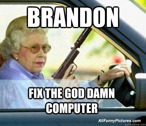 Old Lady Computer Computer Old Lady Bingo Funny