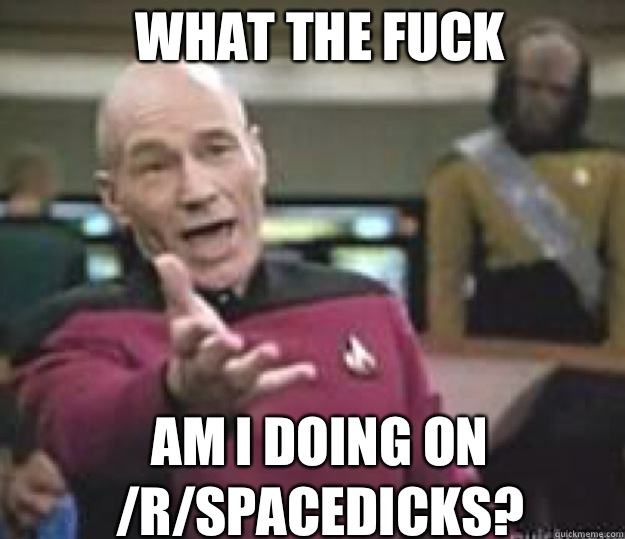 WHAT THE FUCK Am I doing on /r/spacedicks?