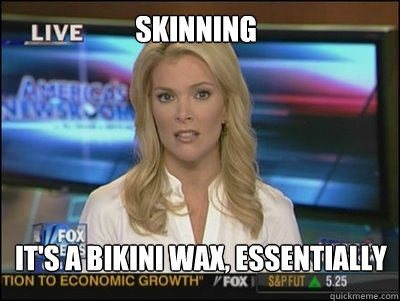 Skinning It's a bikini wax, essentially - Skinning It's a bikini wax, essentially  Megyn Kelly