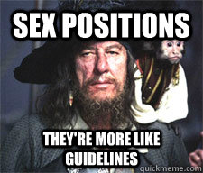 Sex positions They're more like guidelines