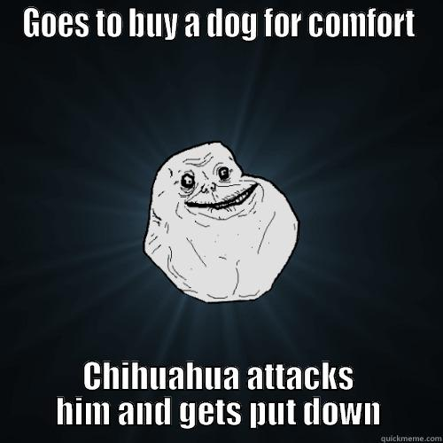 GOES TO BUY A DOG FOR COMFORT CHIHUAHUA ATTACKS HIM AND GETS PUT DOWN Forever Alone