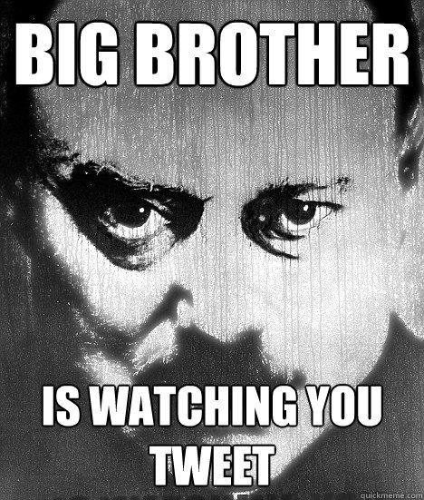 Big Brother Is watching you tweet  Big Brother