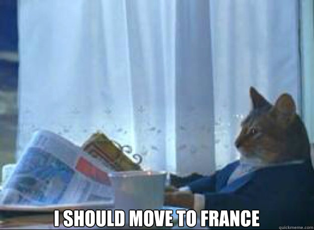I should move to France  - I should move to France   I should buy a boat cat