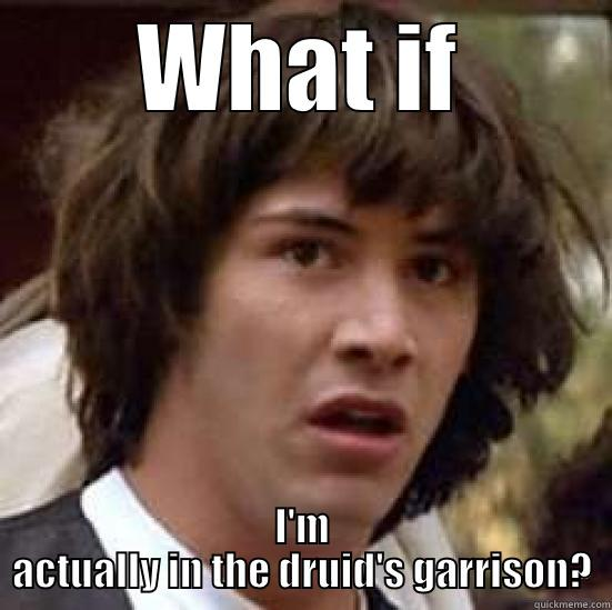 WHAT IF I'M ACTUALLY IN THE DRUID'S GARRISON? conspiracy keanu